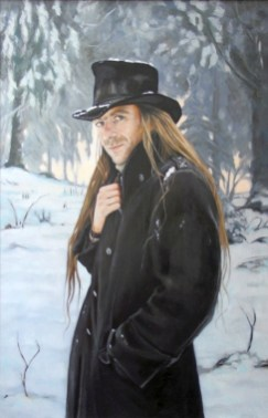Vlad in Bryanston Woods, a Portrait in Oils by Annabelle Valentine