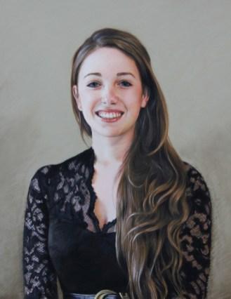 Portrait in pastels by Annabelle Valentine