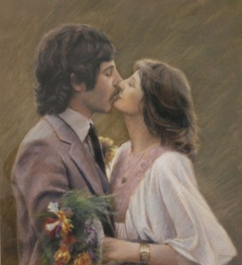 Wedding Portrait in pastels by Annabelle Valentine