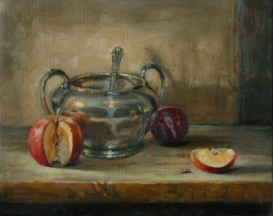 Honey Pot, a still life painting in oils by Annabelle Valentine