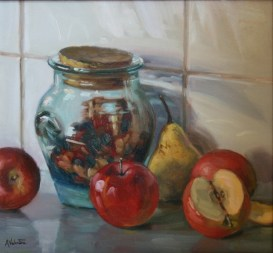 Jar, a still life painting in oils by Annabelle Valentine