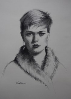 Charcoal Drawing from live sitting at The Sarum Studio by Annabelle Valentine