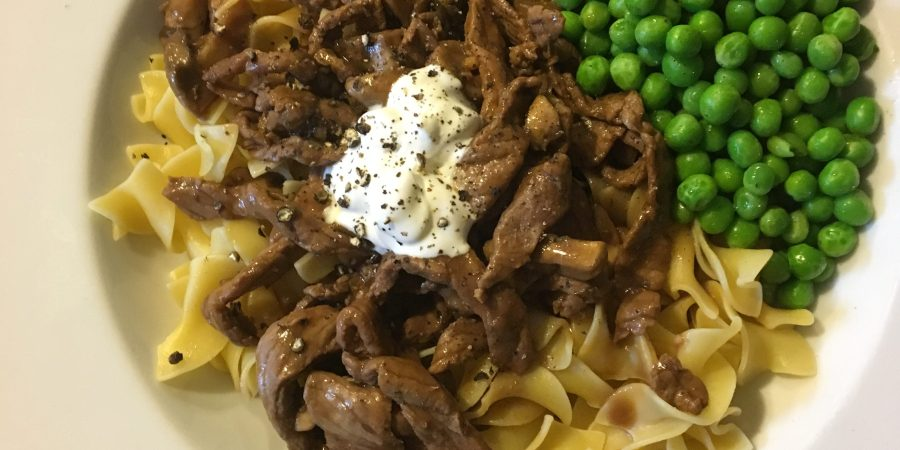 RIDICULOUSLY Easy Beef Stroganoff. Ready in less than 20 minutes.