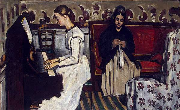 Cezanne's 'Young Girls at the Piano' ('overture de Tannhauser'?)