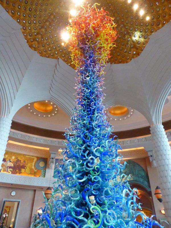A Murano glass ornament - Dubai size