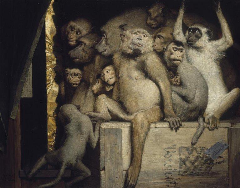 Gabriel Cornelius von Max, Monkeys Judging Art (photo de: Benutzer. Luestling)