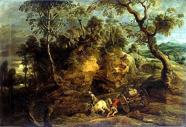 """Why we build roads: """"The Carters"""" by Peter Paul Rubens, c. 1620"""