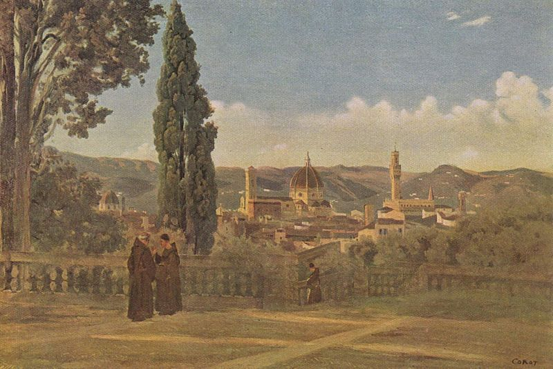 Corot's Florence from the Bomboli Gadens
