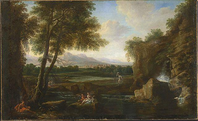 Classical landscape by Francesco Zuccarelli