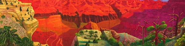 A grander canyon by Hockney