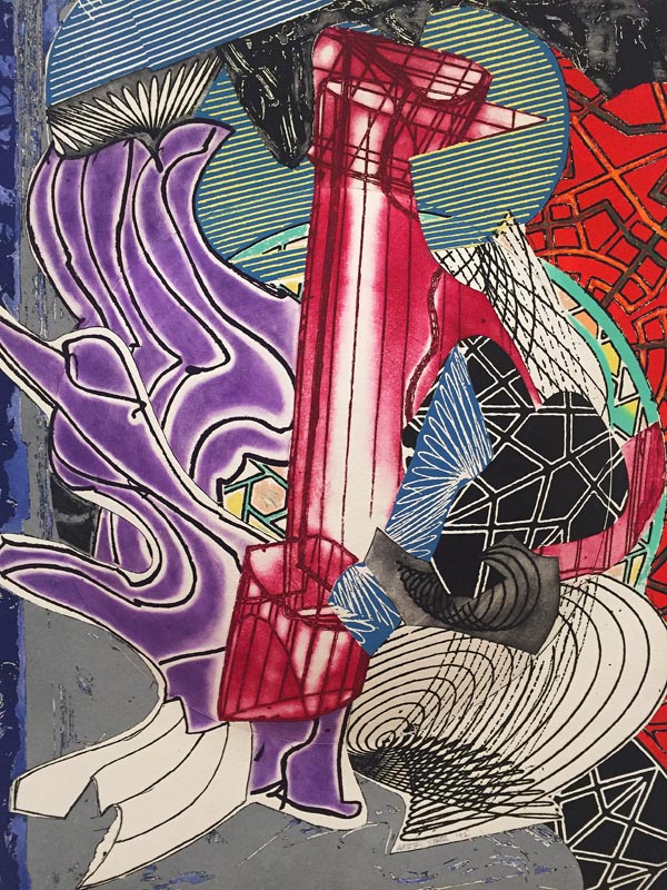 """""""The fossil whale (dome)"""" by Frank Stella"""