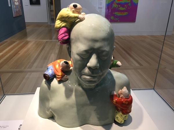 Dr John Yu (with kids) by Ah Xian (2003-4)