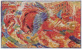 """Boccioni, """"The City Rises"""" (1910)"""