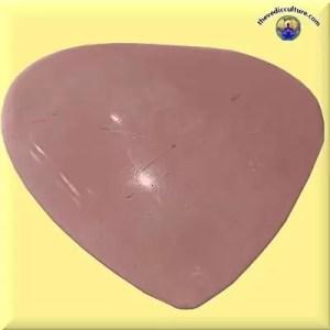 Rose quartz crystal heart meditation