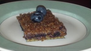 vegan almost raw blueberry bars recipe