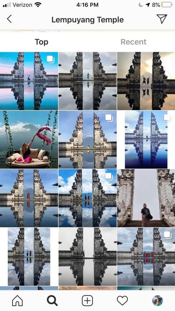 Bali's Gate of Heaven Instagram