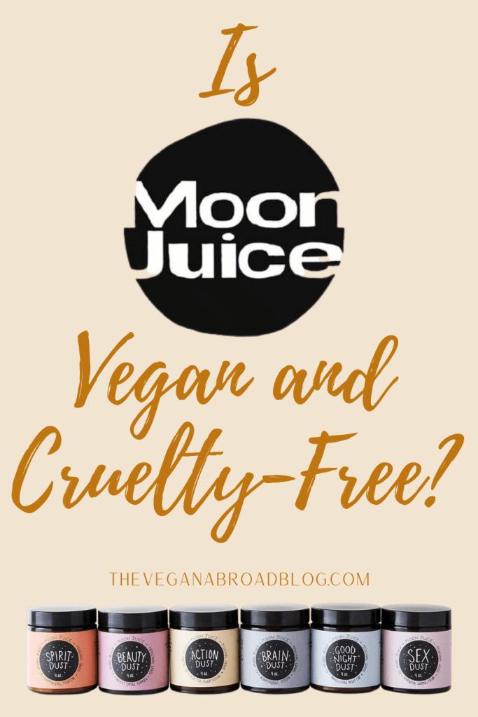 Is Moon Juice Cruelty-Free and Vegan?