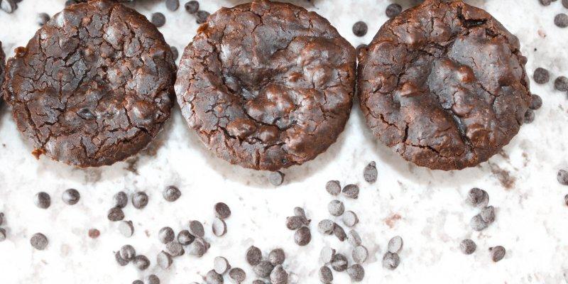 Vegan Black Bean Brownie Muffins