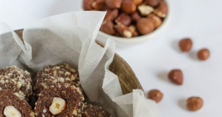 Ferrero rocher con 4 ingredienti – raw vegan