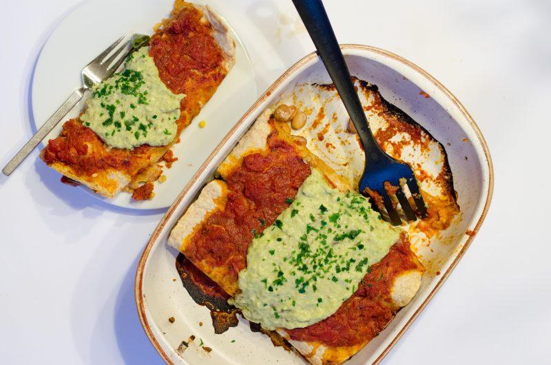 Burritos vegani al forno