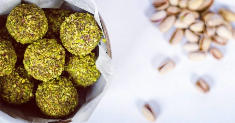 Palline raw vegan al pistacchio