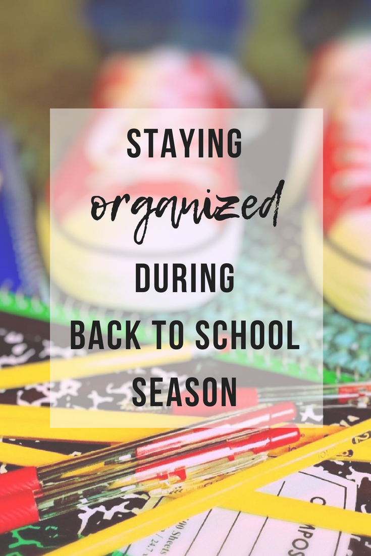 Staying Organized During Back To School Season | www.thevegasmom.com
