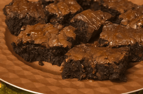 Extra Chocolatey Brownies with Salted Caramel Drizzle | www.thevegasmom.com