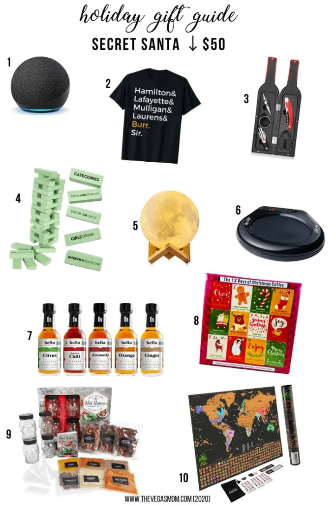 2020 Holiday Gift Guide Secret Santa (Under $50) | www.thevegasmom.com