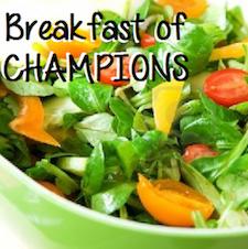 Veggies: the Breakfast of Champions
