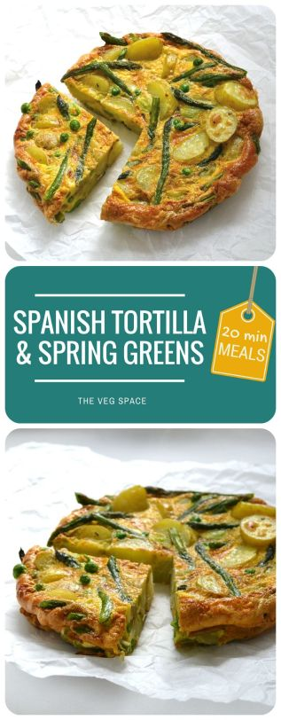 Spanish Tortilla & Spring Greens | The Veg Space
