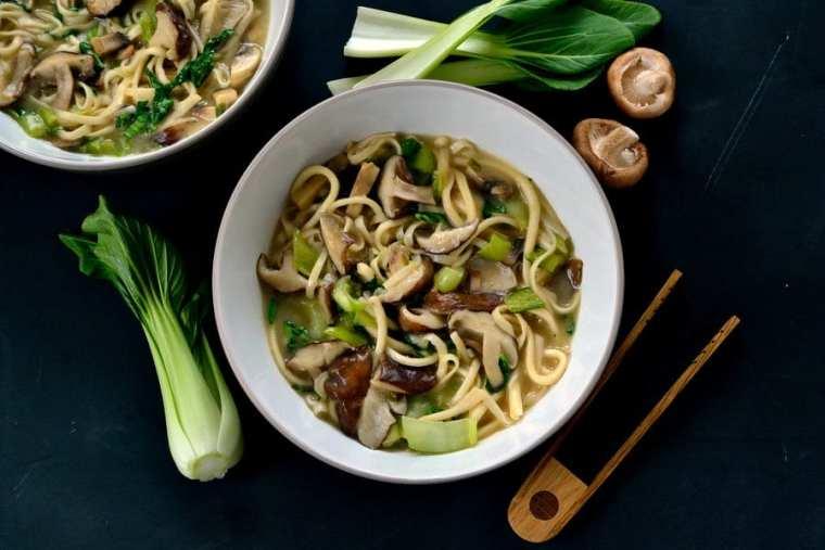Shiitake Miso Noodle Bowl 3