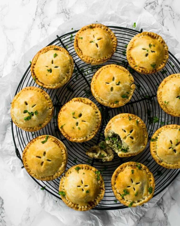 Kale Pesto & Cauliflower Picnic Pies