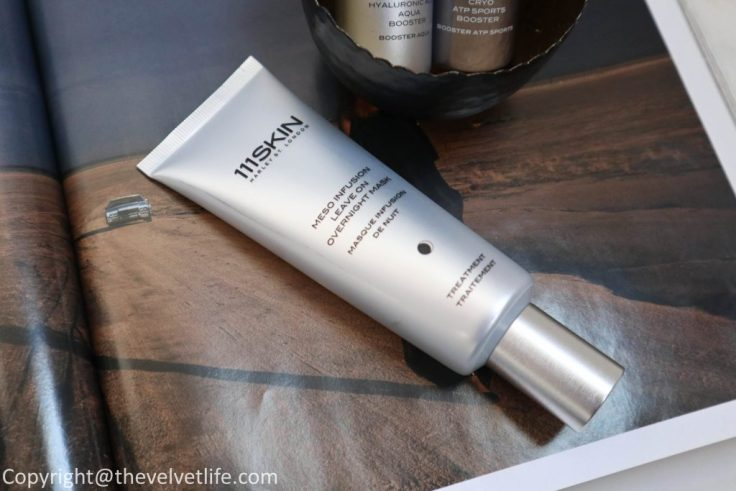 Review of 111Skin Meso Infusion Leave On Overnight Mask, Cryo ATP Sports Booster, and Hyaluronic Acid Aqua Booster