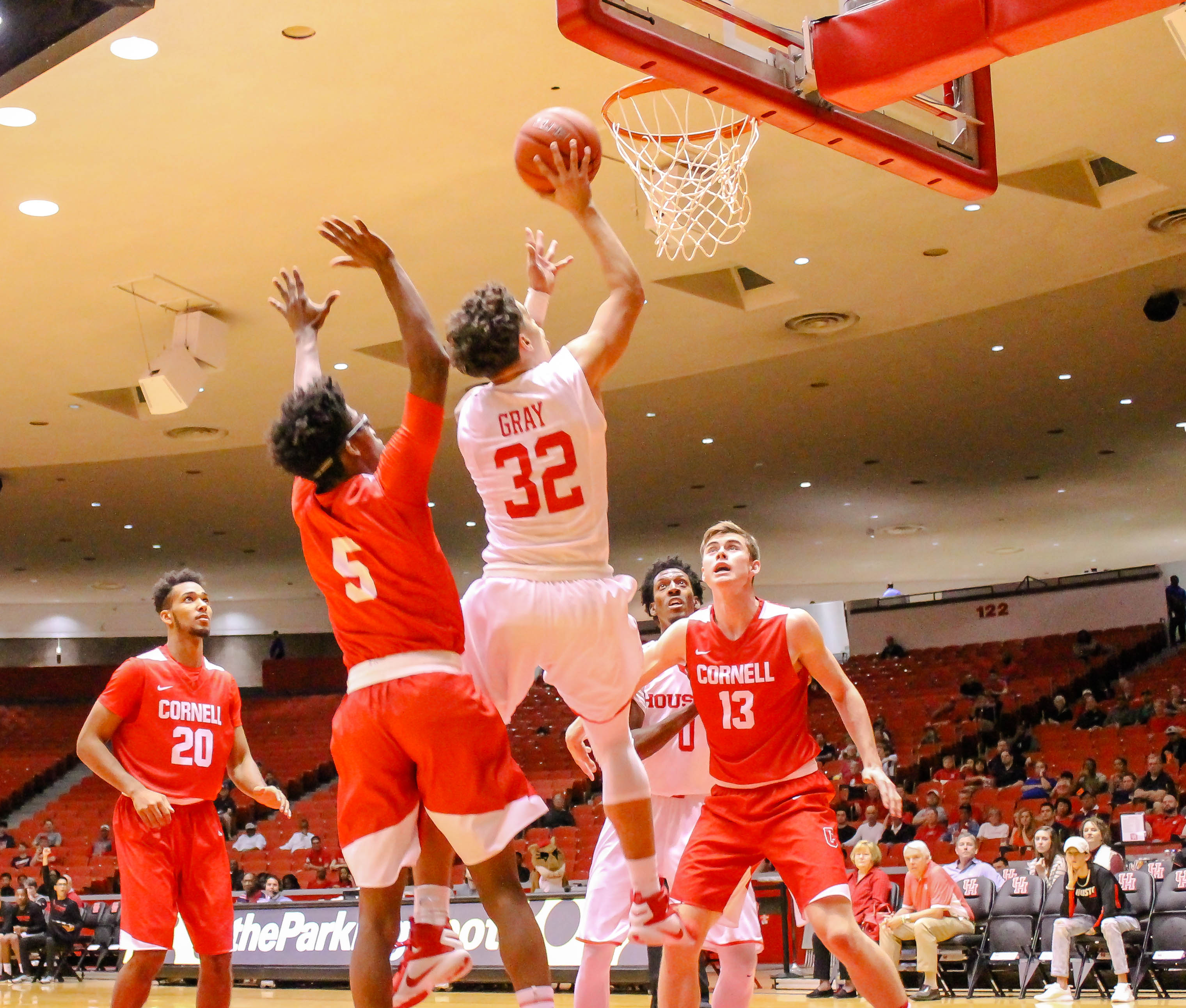 College Mens Basketball Houston Cougar Vs Cornell Big