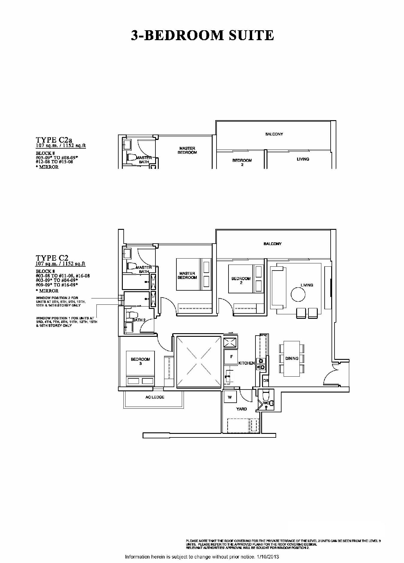The Venue Residences 3 Bedroom Suite Floor Plan Type C2a and C2