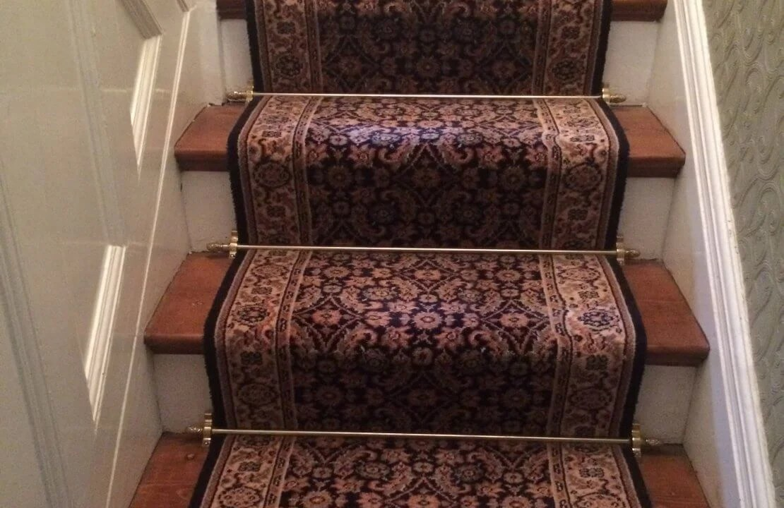 how to fit stair rods reproduction