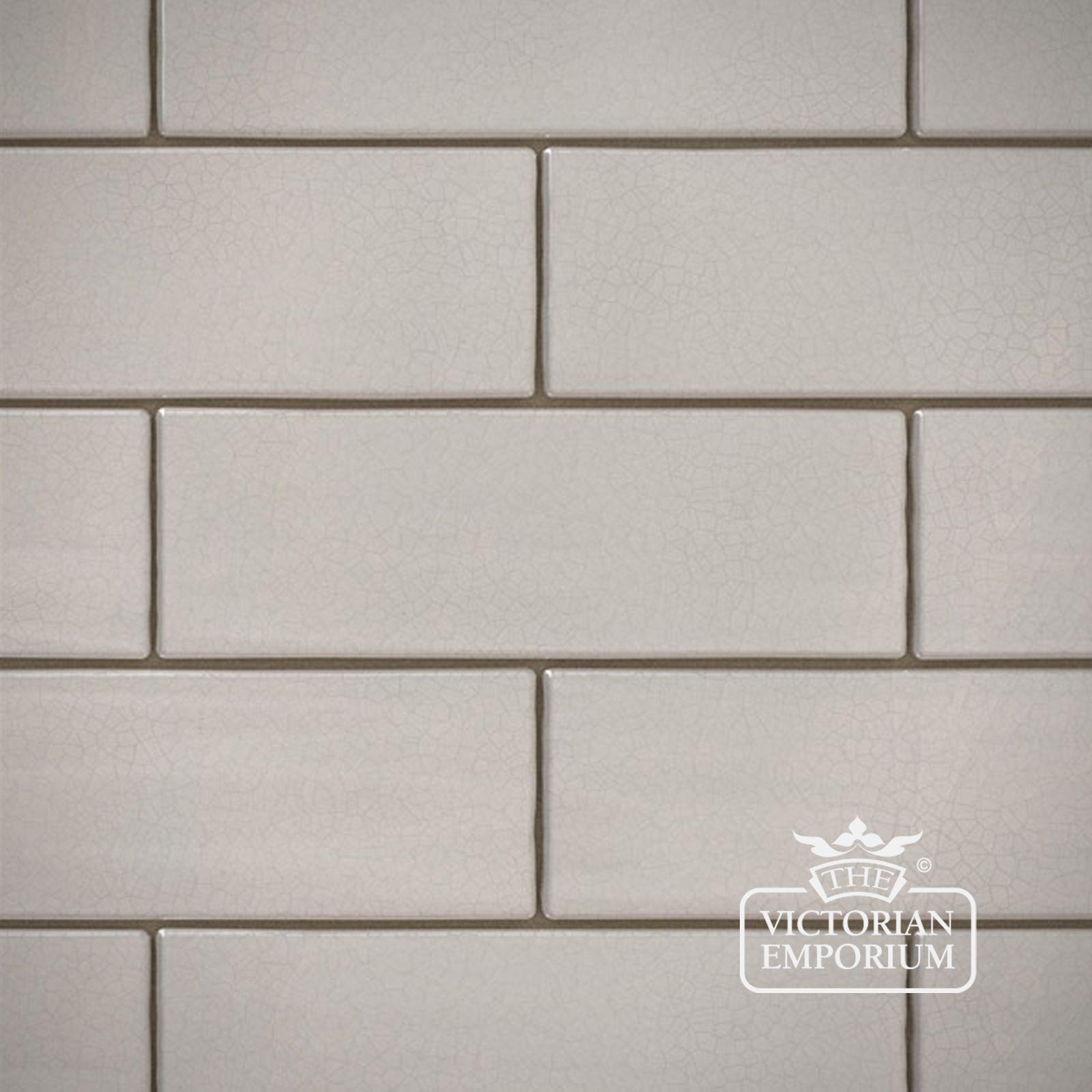 white crackle glazed brick slip