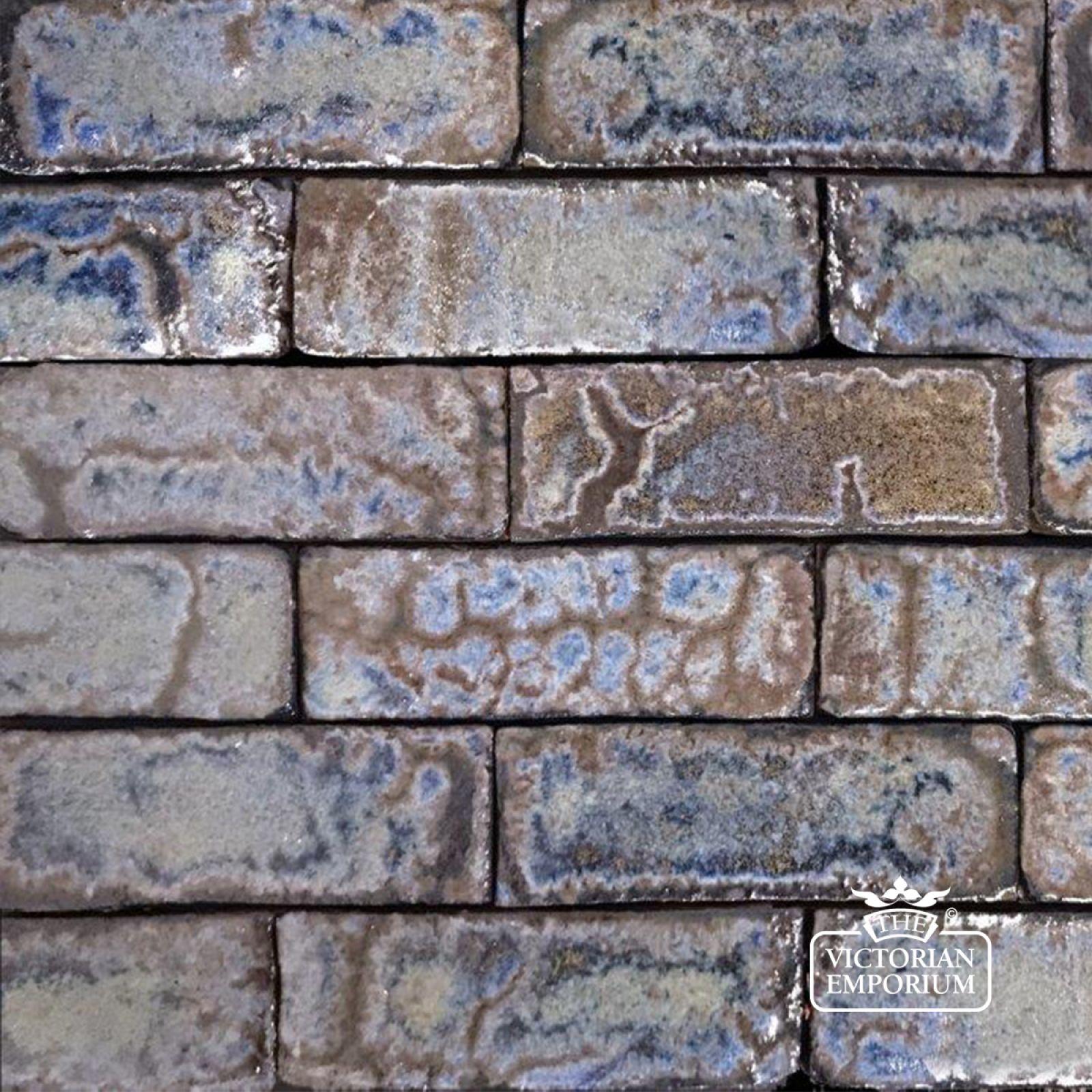 glazed brick slip in azure