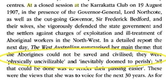 Bates -Aborigines doomed to perish