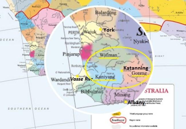Katanning Tribes Map