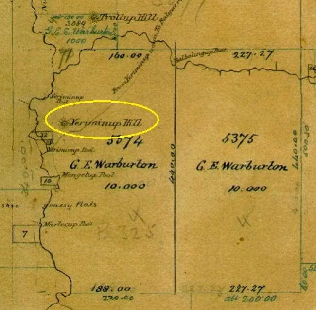 Yerriminup Hill SRO Map 1876