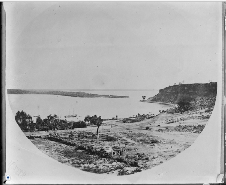 Mounts Bay looking south west C1870