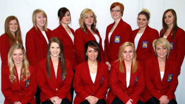 Leadership Team Members of the over 500 member Four County Career Center Skills USA Chapter include (FRONT - LEFT TO RIGHT) Nickole Kern, Cosmetology (Liberty Center); McKenzie Hall, Cosmetology (Tinora); Helena Estrada, Cosmetology (Defiance); Kayla Matney, Law Enforcement & Security Tactics (Defiance); Taylor Rosebrook, Cosmetology (Patrick Henry); (BACK - LEFT TO RIGHT) Katelyn Thomas, Fire & Rescue (Liberty Center); Brooklyn Sheffer, Pre-Engineering (North Central); Alexandria Duracher, Cosmetology (Edon); Emily Kolbe, Cosmetology (Montpelier); Ashley Buttermore, Commercial Art (Tinora); Kristena Slagle, Auto Collision Repair (Patrick Henry); and Katelynn Brown, Commercial Art (Hicksville). Among the chapter projects this year are the food and toy drive to raise funds for area needy families, state and national Skills USA leadership and skill competitions, and sponsorship of student assemblies. Kim Dunbar, Cosmetology instructor and Bill Parsley, HVAC & Plumbing instructor are the Career Center Skills USA advisors. Absent from the photo is Maxwell Scott, HVAC & Plumbing (Evergreen).