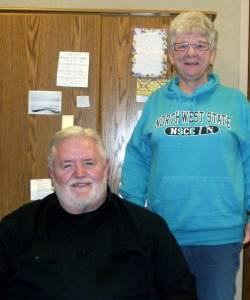REACHING OUT THROUGH REACH UP …. CCNO Chaplain John Cattell and Jackie Keefer-Tate, president of the Reach Up board head up the spiritual aspects of life at the regional jail.