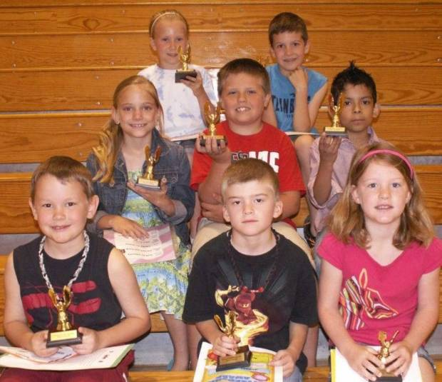 Grades 1, 2 and 3 Good Citizens: Row 1 – Jake Turner, Jonathon Hicks, Ashlynn Martin Row 2 – Kaytee Tomblin, Sean Michael, Emmanuel Rodriguez-Montes Row 3 – Lauren Balser, Teegan Helms