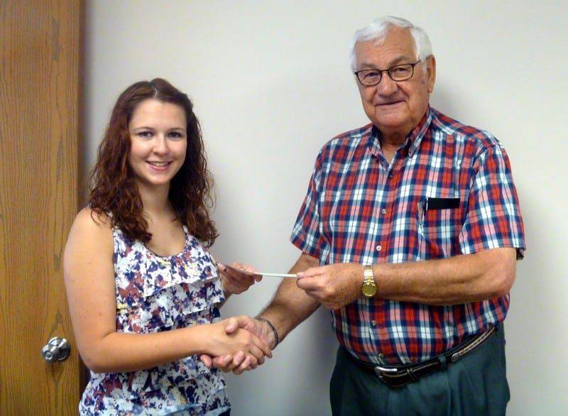 FAYETTE LIONS CLUB SCHOLARSHIP - KAYLA WAGNER - PHOTO - WEB