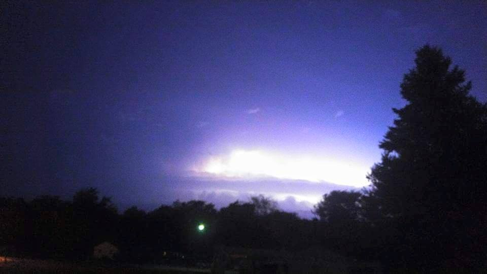 Jeremy Miklovic of West Unity shares this lightning photo of the storm that just passed through Williams and Fulton Counties. Hail has been reported in the Stryker area of Williams County while several power outages have been reported in Fulton County including the Lyons area.