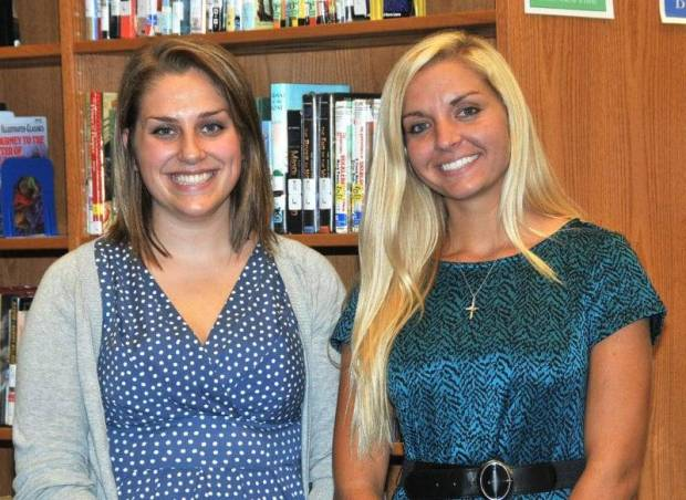 During a special session held Tuesday, August 18, Edon Northwest Local Board of Education approved one-year contracts with Amanda Pattyn (left) as fifth grade teacher and Taylor Scott (right) as second grade teacher for the 2015-2016 school year. Classes in the District resumed August 19.