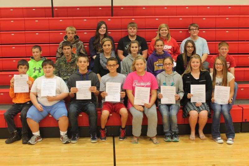 September Students of the Month for Hilltop HS