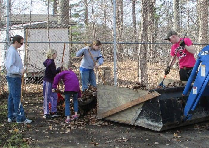 2016 4-H Camp Palmer spring clean up WEB